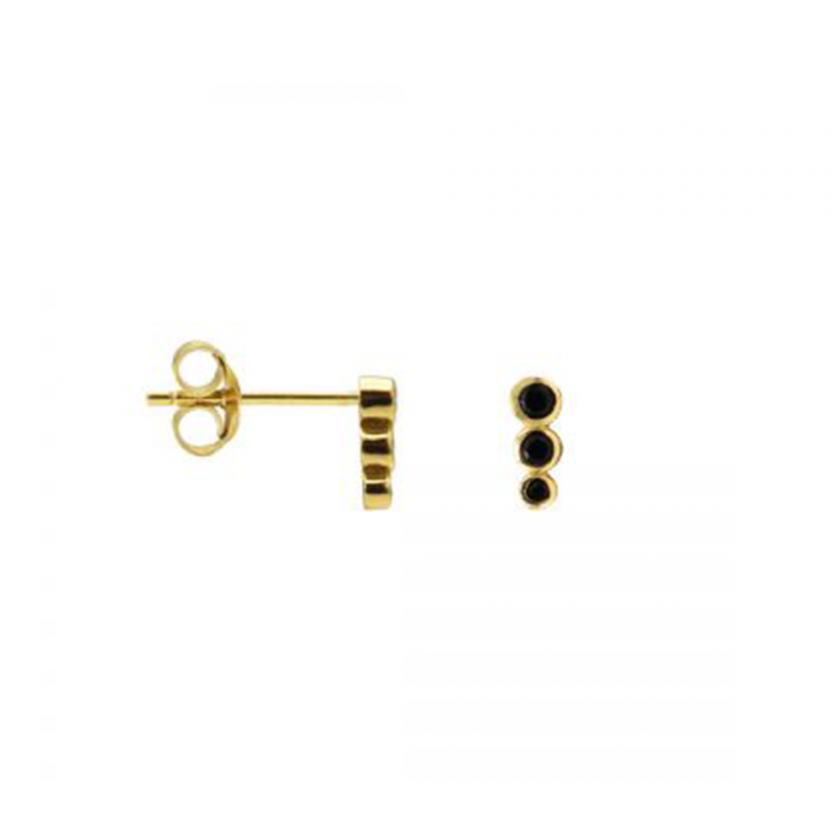 Zirconia Symbols Dotty Row Goldplated
