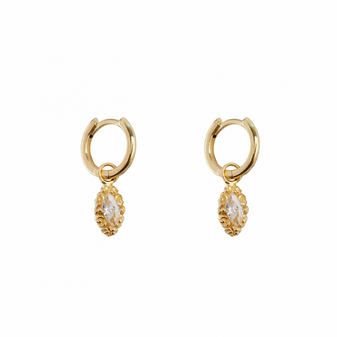 Antique Drop Earring Goldplated