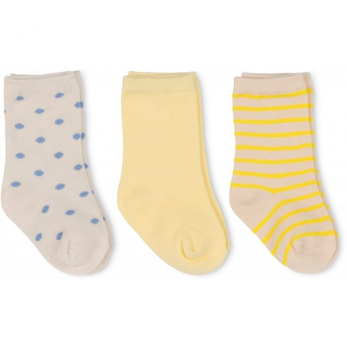 3 Pack Rib Socks - Golden