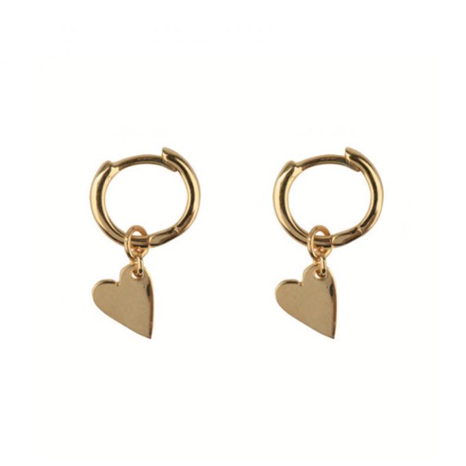 Small Hoop Heart Earring Goldplated