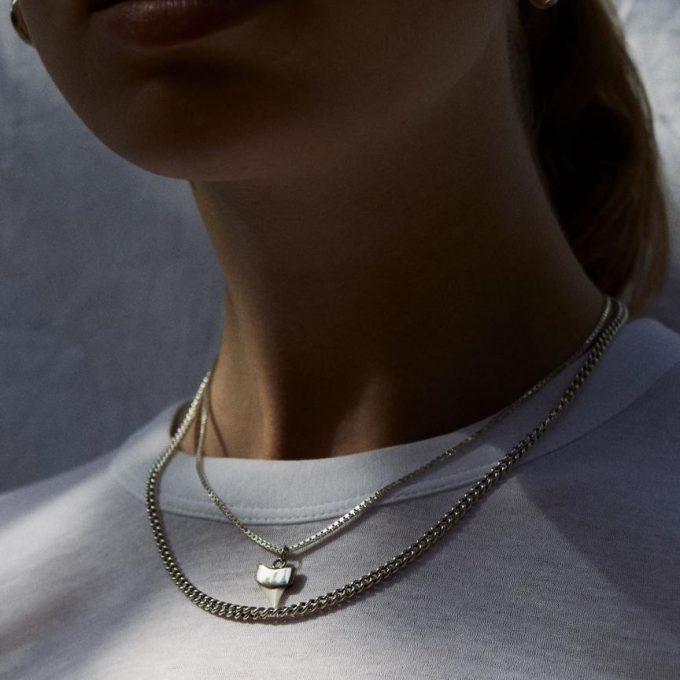 The box chain necklace Silver