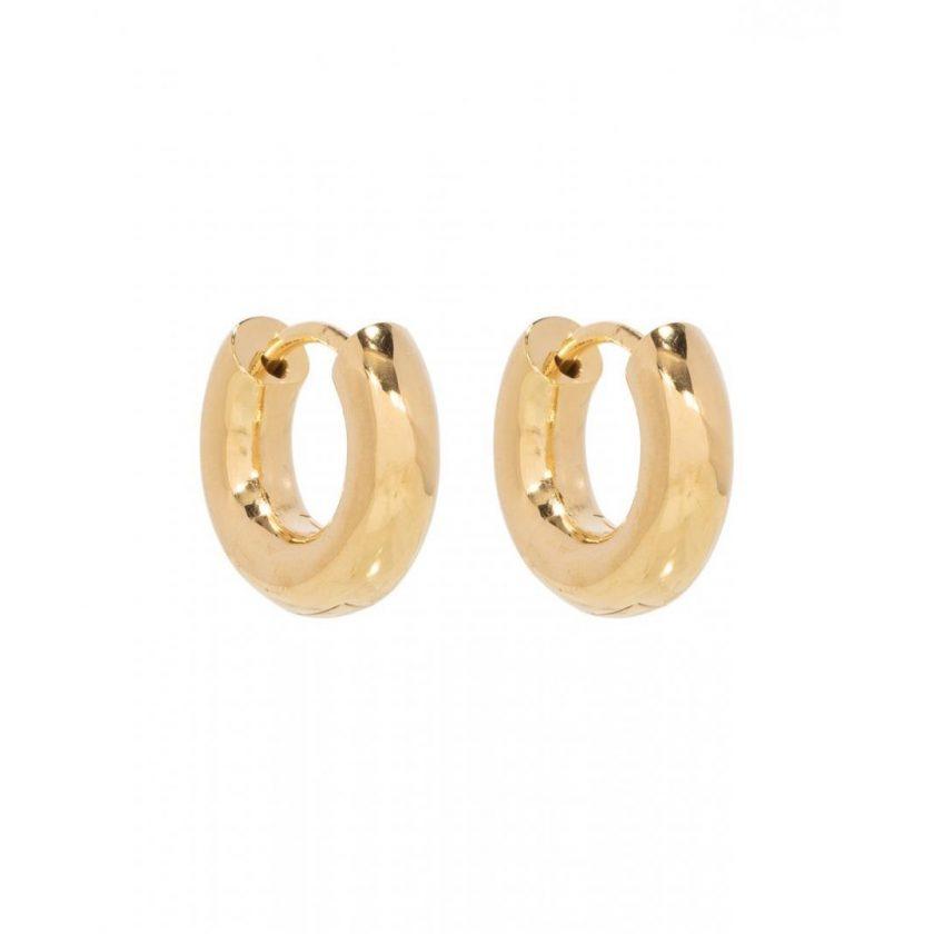 Thick Huggies 15mm Gold Vermeil