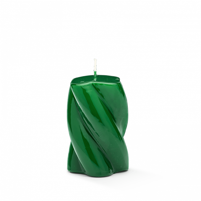 Blunt Twisted Short Candle Dark Green