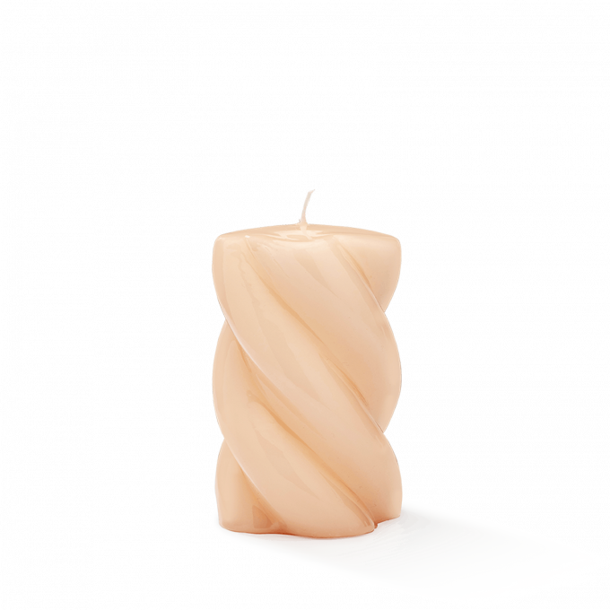 Blunt Twisted Short Candle Nude