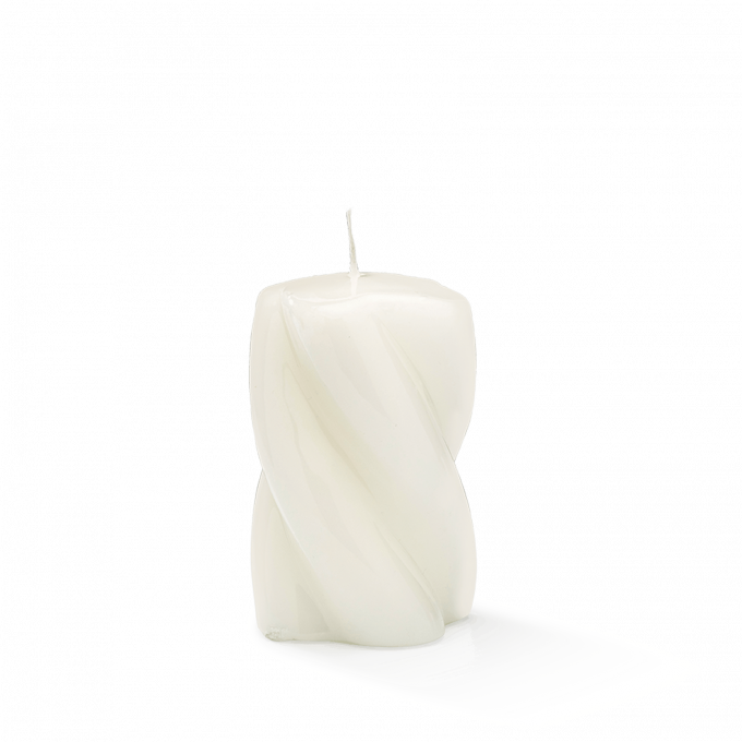 Blunt Twisted Short Candle White