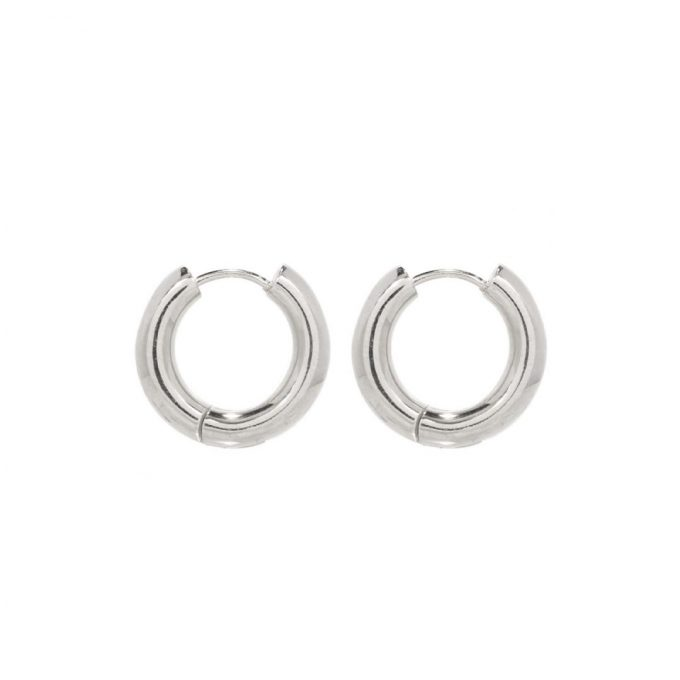 Thick Huggies 20mm Sterling Silver