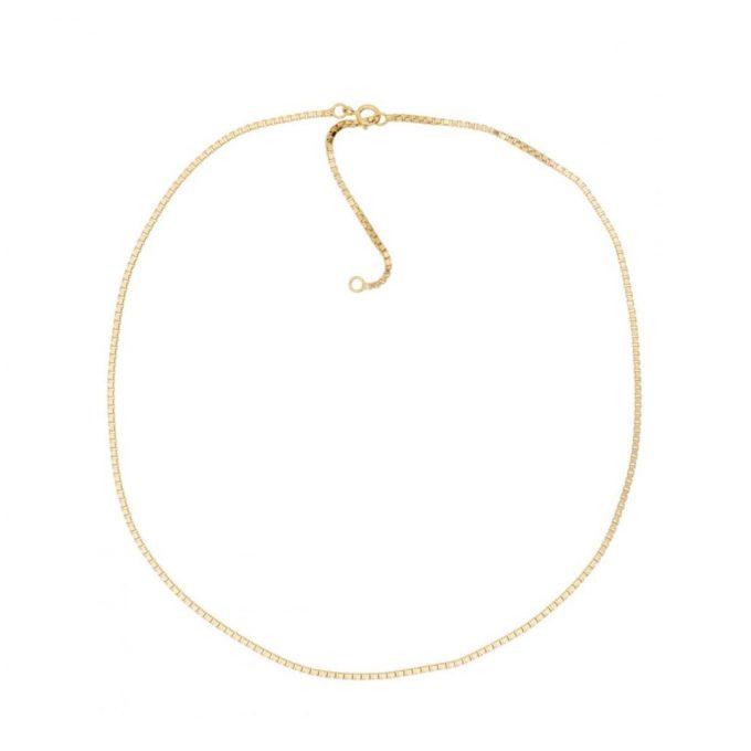 Box Chain Necklace Gold Vermeil